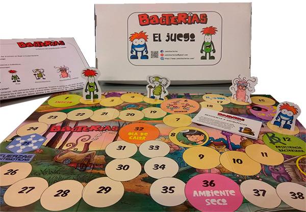cómic bacterias iibce bandas educativas divulgación científica el juego de tablero