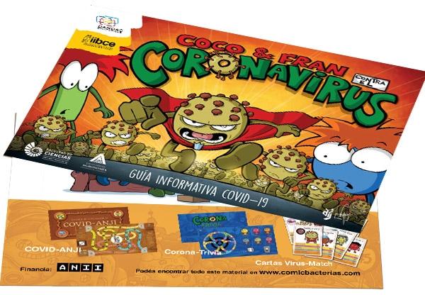 cómic bacterias iibce bandas educativas divulgación científica coronavirus covid-19