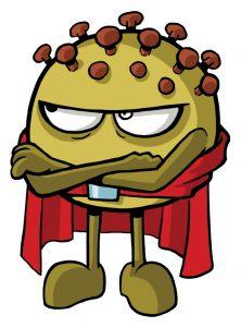 coronavirus comic bacterias