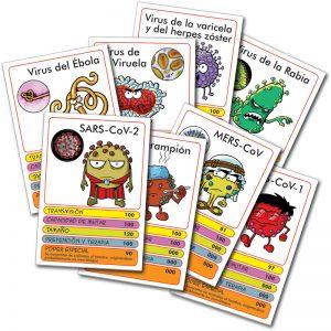 cartas virusmatch Comic Bacterias