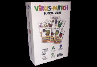 virus-match guerra viral juego cartas cómic bacterias iibce bandas educativas divulgación científica